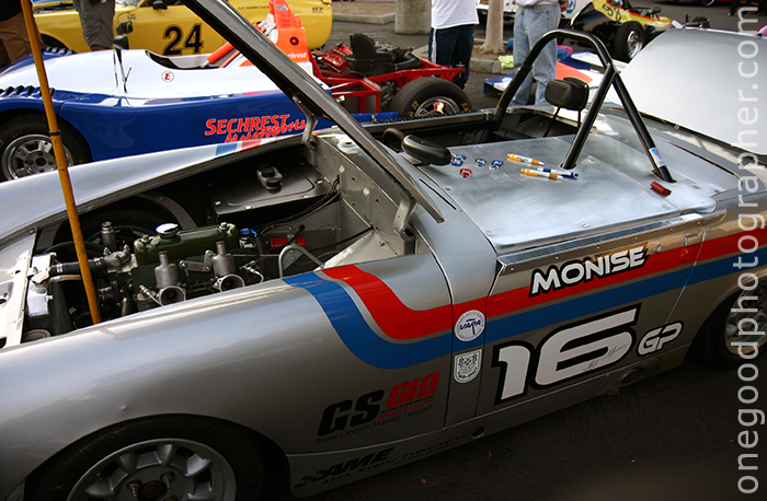 Vintage MG Midget Driven by Geoff Monise