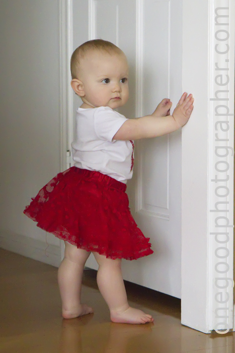 Lily Marie in her red tutu.